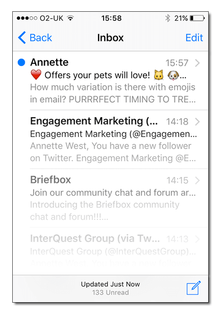 how to put emojis in email subject line