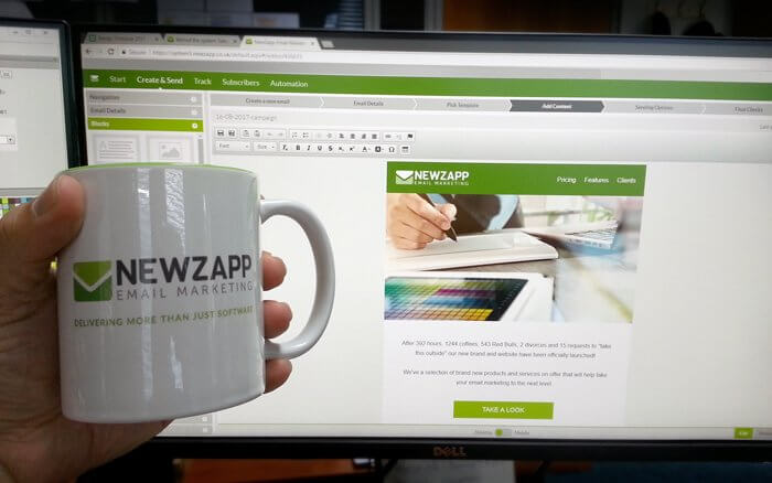 NewZapp cup with campaign